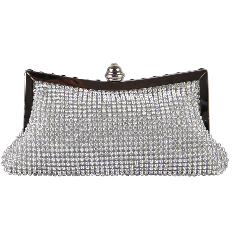 2016 New Luxurious Brilliant Evening Bags Women Rhinestones Clasp Flap Chain Clutch Bags Clutch Purse Baguette Wallets Party Bag(China (Mainland))