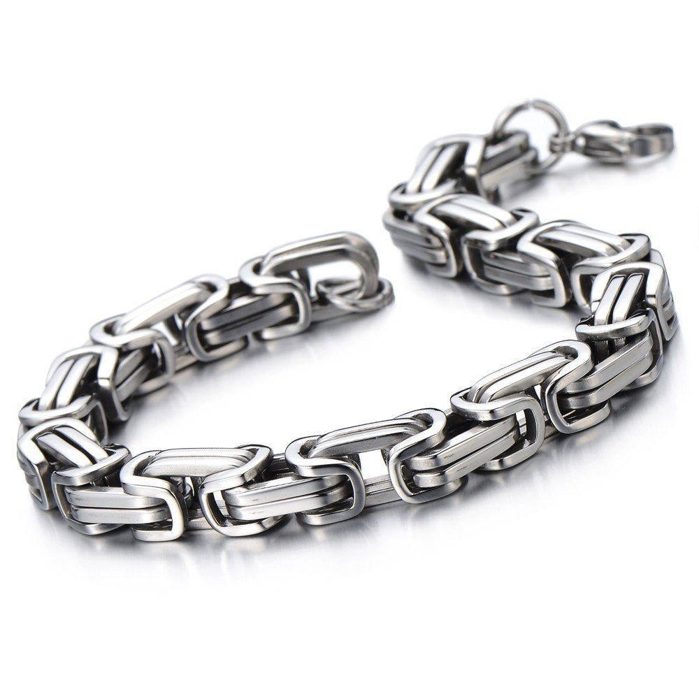 Newest Fashion 2015 Men Cool as well as Unique Edgy Bracelet Stainless Steel Bracelets for lover Gift for Men Anniversary(China (Mainland))