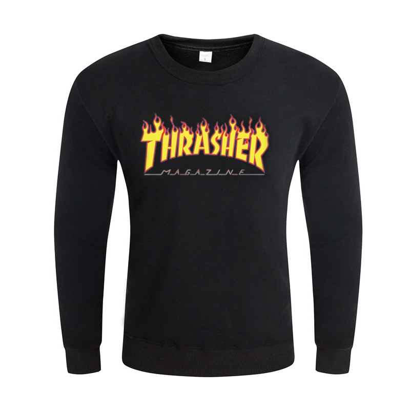 2016Very good quality Clothes Fleece Trasher Hoodie Hip Hop Skateboard thrasher Hoodie Men Sweatshirts Pullover Element Hoodies(China (Mainland))