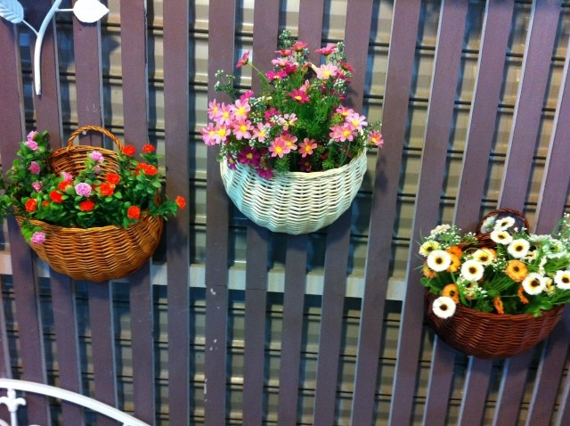 Free Shipping Willow Hanging Basket Wall Decor Wicker