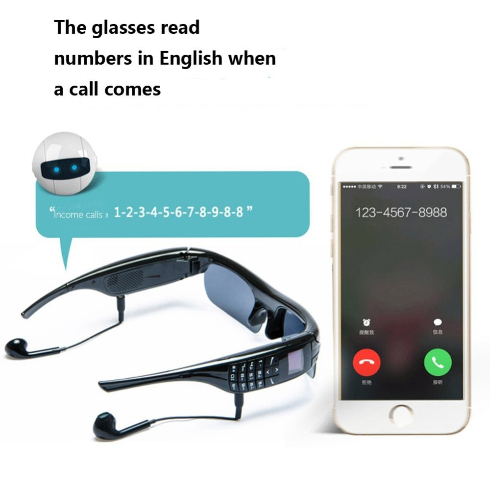Smart phone Wearable sunglasses for driving sport message reminder answer dial c