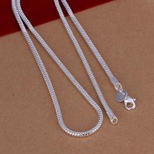 50 см мужская ожерелье ювелирных изделий 3 мм длинный размер вариант 925 стерлингового серебра длинное ожерелье змея цепи n192 подарочные сумки бесплатно(China (Mainland))