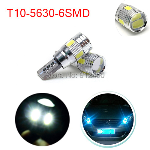 Free Shipping 2pcs/lot T10 High bright CREE with Projector Lens led Car Lights W5W AUTO LIGHT BULBS Clearance Lamp(China (Mainland))