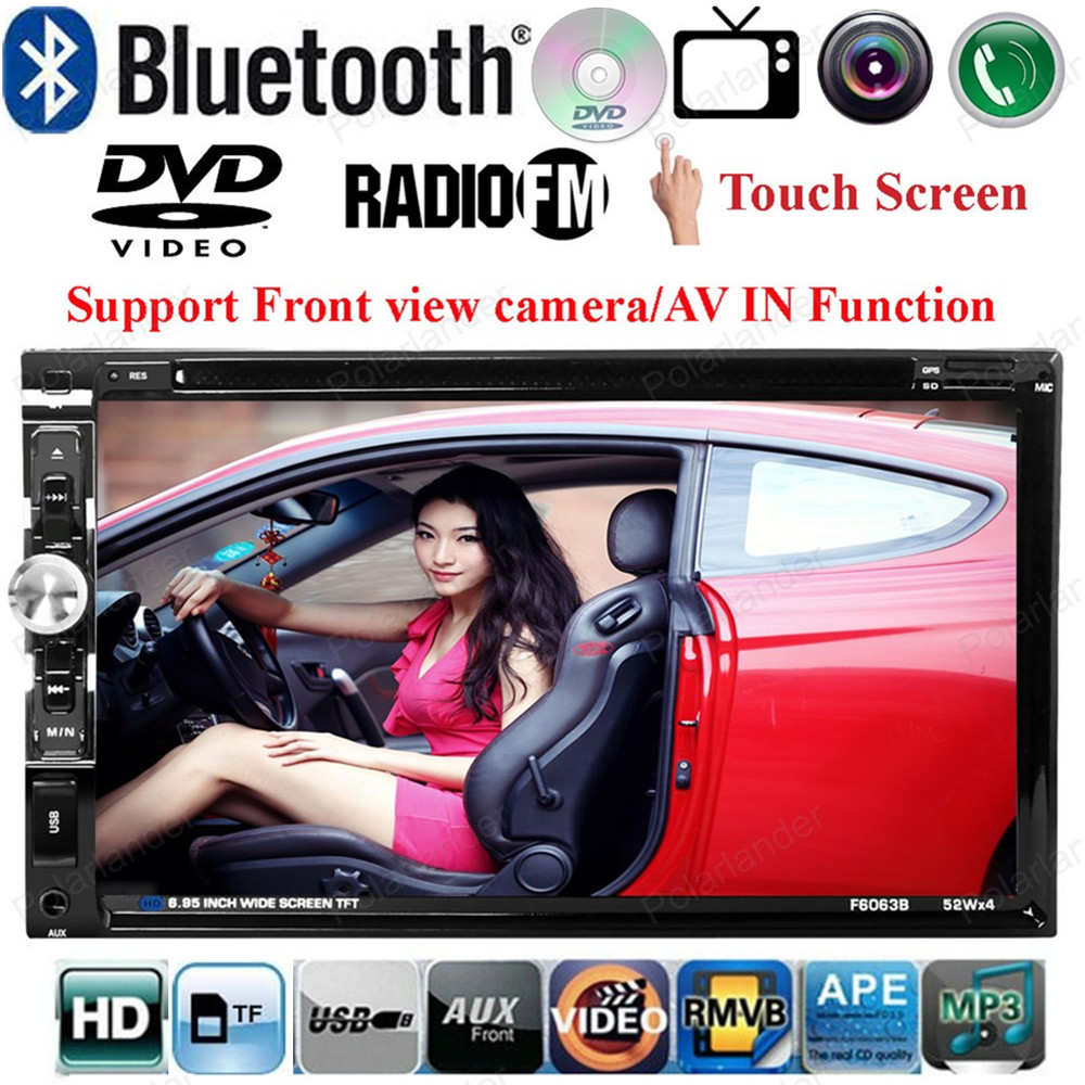 2 din Car MP5 Bluetooth car DVD Player support Front/ Rear Camera/ Steering Wheel Control/FM/USB/TF Card 6.95 inch Touch Screen(China (Mainland))