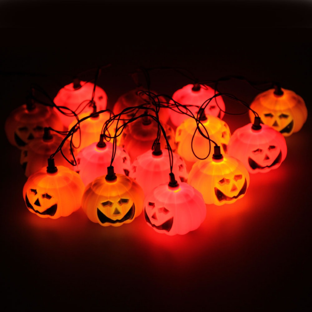 LS4G  2014 New Entertainment  Mini String Of 16 Halloween Orange Pumpkin Lights (China (Mainland))