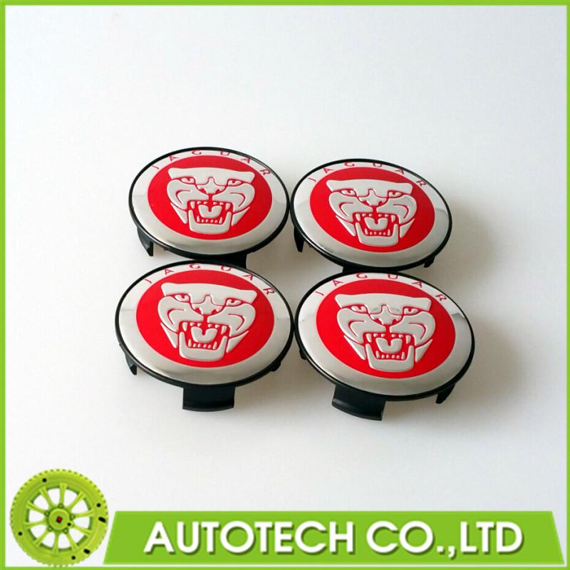 Set Of 4 58mm Jaguar Wheel Center Cap Hub Cap Badge Emblem For XJ XJR XJ6 XF X S TYPE XJ8 XK8 XKR Red(China (Mainland))