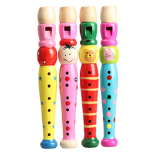 Madera cabrito plástico Piccolo Flute Musical Instrument Early Education Toy #NVP