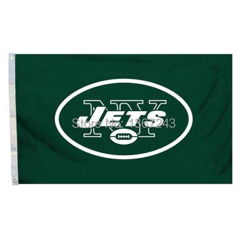 New York Jets USA NFL Premium Team Football Flag 3X5 ft custom Banner 90x150cm Sport Outdoor NYJ1(China (Mainland))