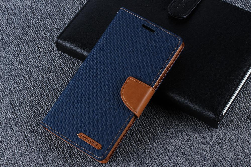 for iPhone 5SE Case Cover Canvas Leather Flip Wallet Stand Silicon Back Cover for Apple iPhone SE 5SE Mobile Phone Accessory