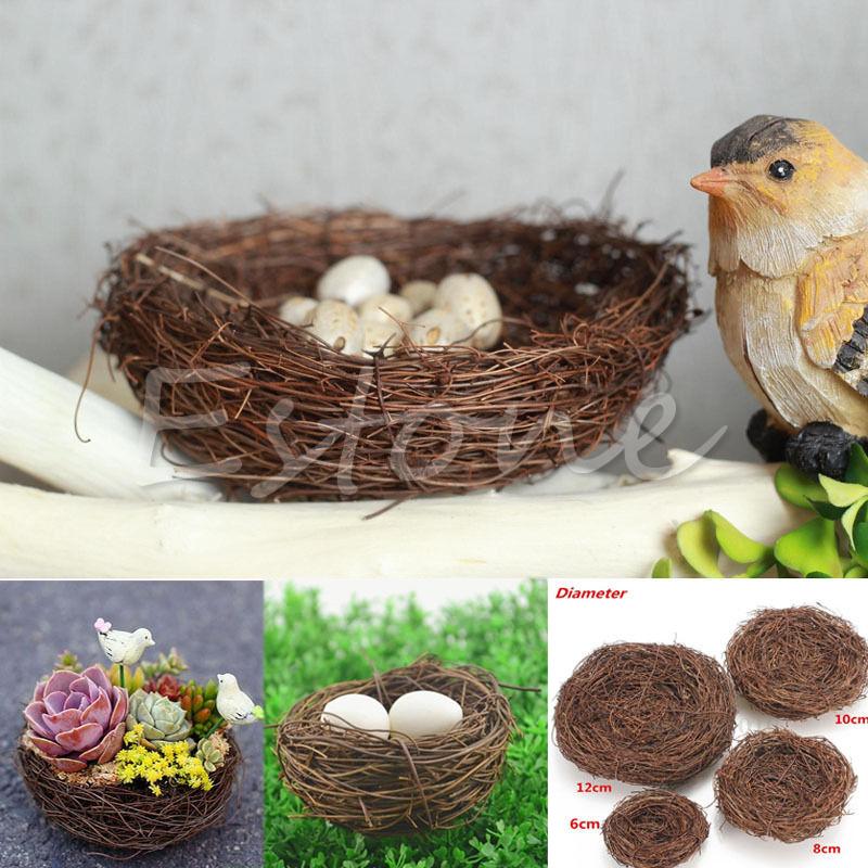 Handmade Vine Brown Bird Nest House Home Nature Craft Holiday Decoration New(China (Mainland))