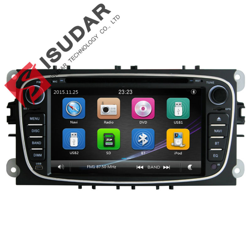 2 Din 7 Inch Car DVD Player FORD/Mondeo/S-MAX/Connect/Galaxy/FOCUS 2008-2011 3G Host Radio GPS Navi BT 1080P Ipod Map - Shop317945 Store store