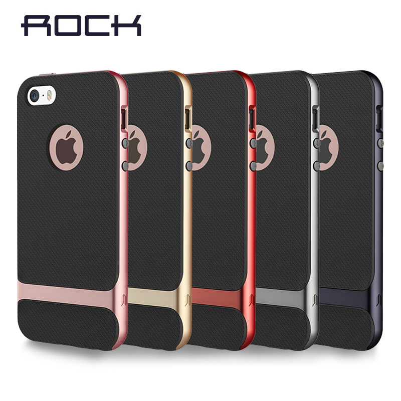 ROCK Brand Case for iPhone SE 5s silicone case PC +TPU Neo Hybrid Durable Slim Armor cover For Iphone 5S se free ship(China (Mainland))