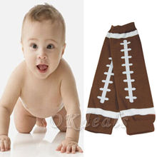 1 Pair Winter American Football Baby Kids Child Arm Leg Warmers Cotton Toddler Boys Girls Legging Brown #10(China (Mainland))