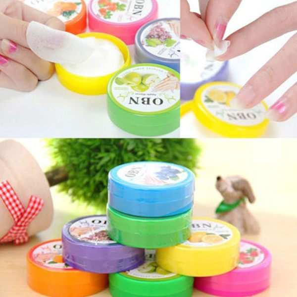 1Set/32PCS Flower Flavor Wet Wipes Paper Towel Nail Art Polish Vanish Remover Pads(China (Mainland))