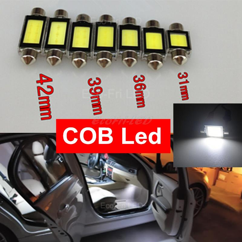 2x Canbus Festoon COB Led 31mm 36mm 39mm 42mm C5W 12V LED High Power SMD Light Interior Dome Light Lamp 6000K White(China (Mainland))