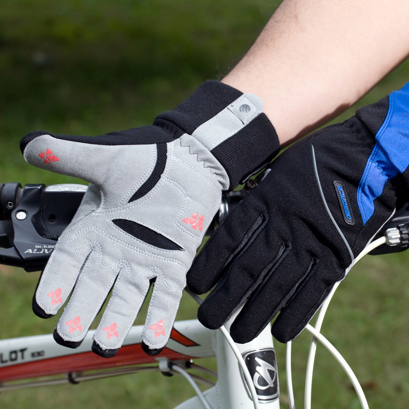 Deroace Winter Windproof Wind Cover Cycling Bike Bicycle Gloves Waterproof Fleece Warm Gloves GuantesSki gloves 2 colour(China (Mainland))