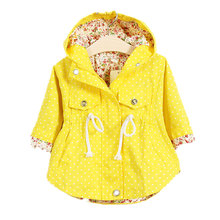 2015 fashion jackets for girls Cute dot casual girls hoodies kids Jacket children outwear Spring Autumn casaco infantil