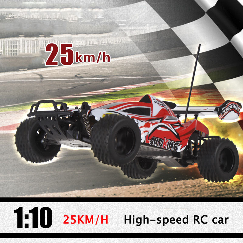 2.4GHz RC car 1/10 25KM/H high-speed 4WD rc car Powerful Big Buggy RC Drift car toy for bos/childrens/kids AA30201867(China (Mainland))