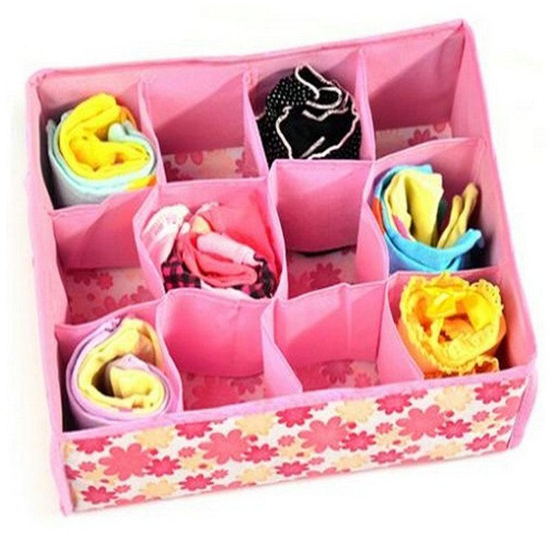 12 Cells Underwear bra socks Home Organizer Storage Box Case(China (Mainland))