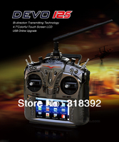 "2012 Walkera DEVO12S/DEVO 12S With telemetry function 12Ch 4.7""Touch Screen + RX1202 Receiver + Aluminum Case free shpping"