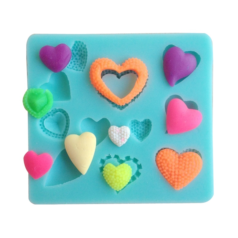 Silicone Mold Heart Shapes Moldes De Silicona 3D Mould For Soap,Candy,Chocolate,Ice,Cake(China (Mainland))