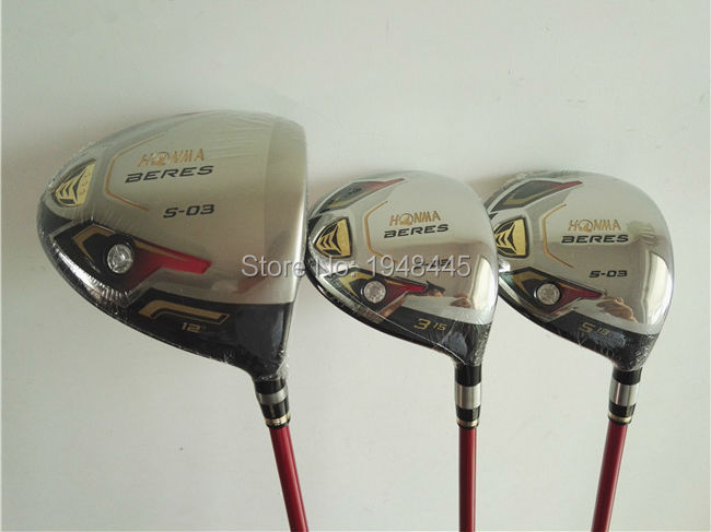 Women Honma S-03 Full Set Honma Golf Clubs Driver + Fairways + Irons Lady Flex Graphite Shaft Come With Head Cover(China (Mainland))