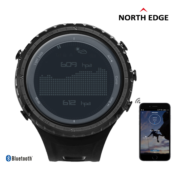 NorthEdge Men's sport Digital watch Hours Men Gift Military wristwatch Altitude Barometer Compass Thermometer Pedometer camping(China (Mainland))