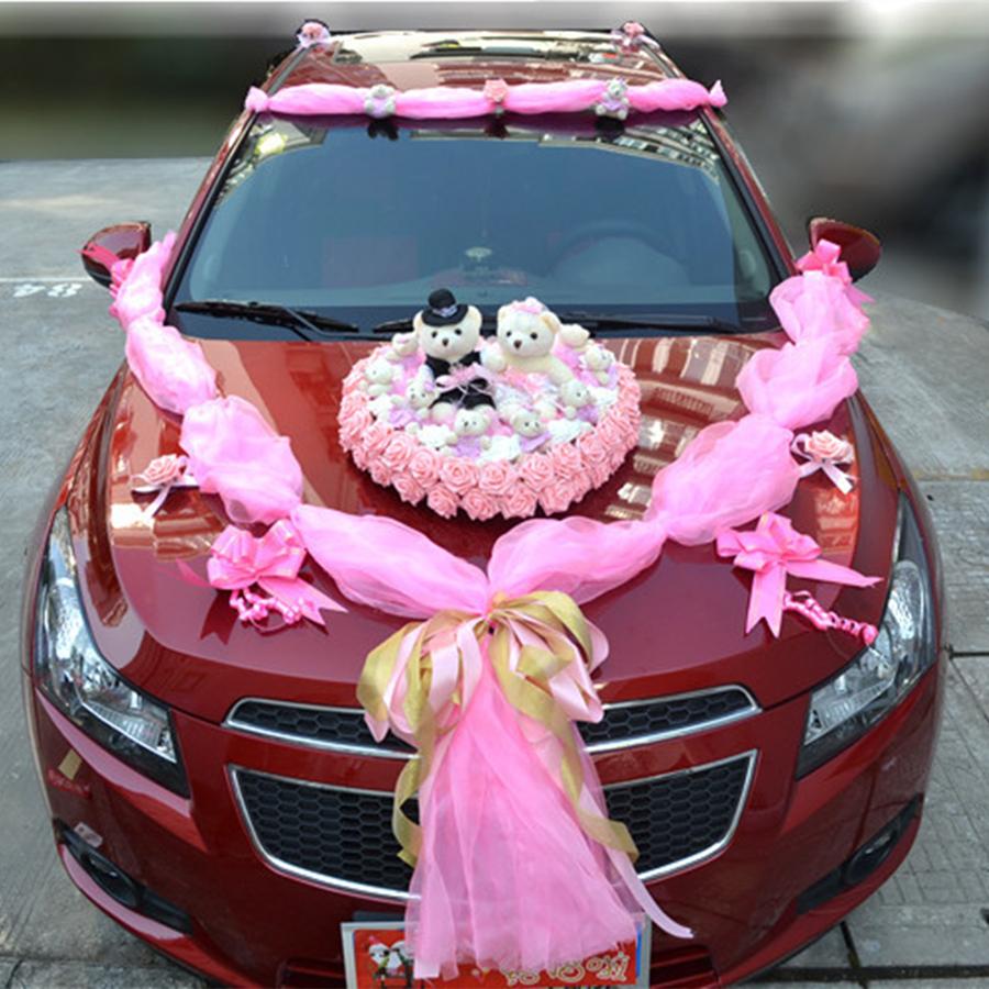 A fleur de voiture de luxe conception d coration kit for Decoration voiture mariage