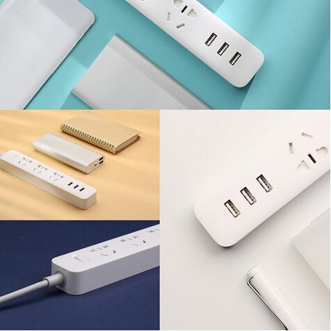 Original XiaoMi Mi 3 USB Charging Ports Mini Smart Power Strip with 3 Sockets Support AU / EU / US Standard Plug(China (Mainland))