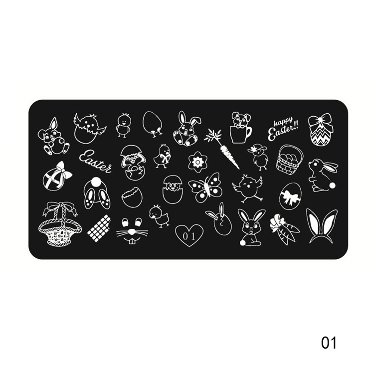 Nail Art DIY Image Stamping Steel Plates Manicure Template Art Tools NA-0127(China (Mainland))