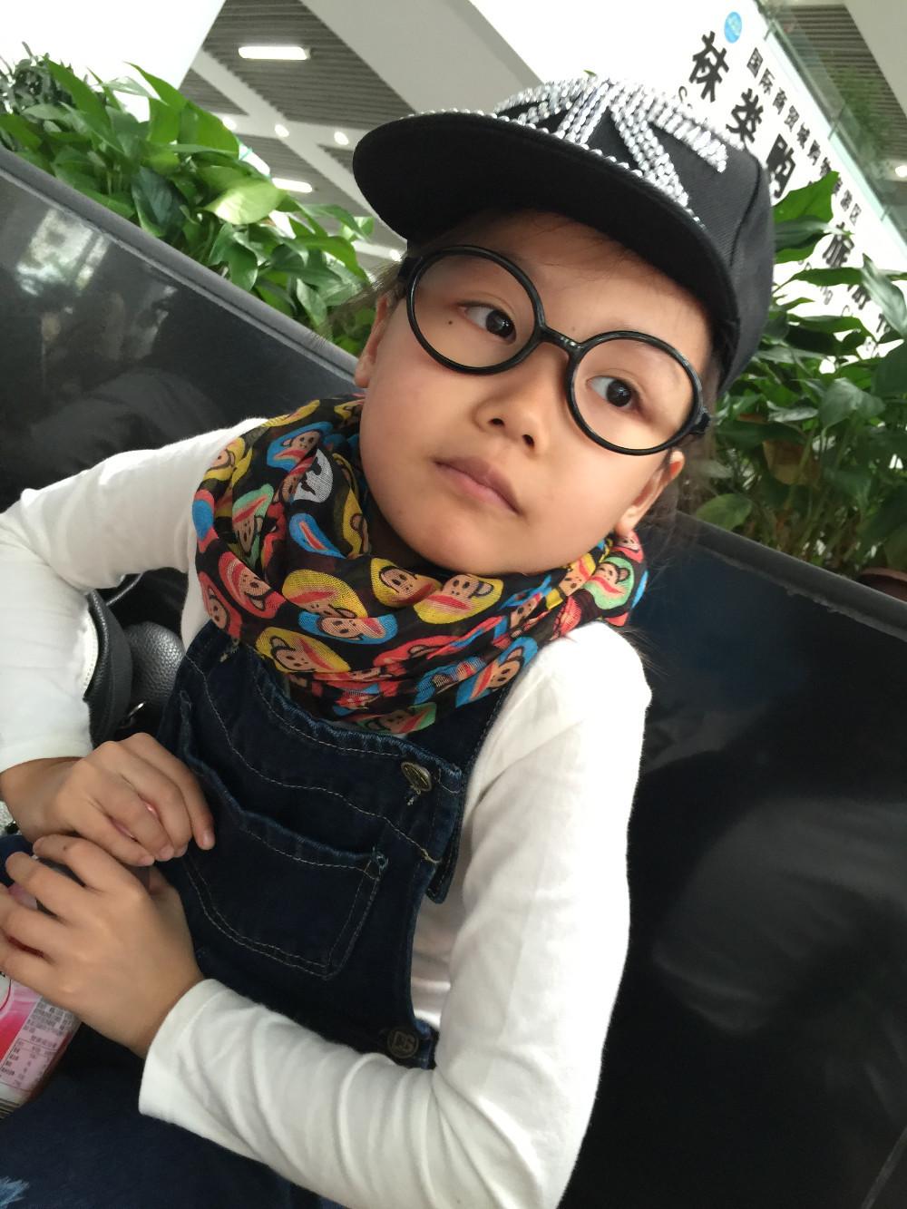 2015 новых детей зима осень шарф удобные мягкие лен детские шарф бесконечность милые обезьяны платки для мальчиков и девочек