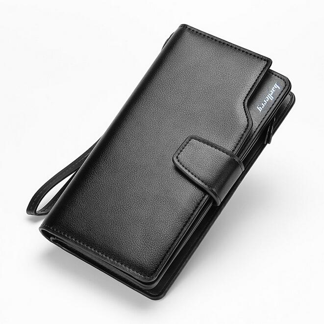 2016 New men wallets Casual wallet men purse Clutch bag Brand leather wallet long design men bag gift for men(China (Mainland))