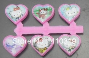 wholesale 100pcs/lot heart hello kitty plastic slide charm fit for diy 8mm silicone wristband(China (Mainland))