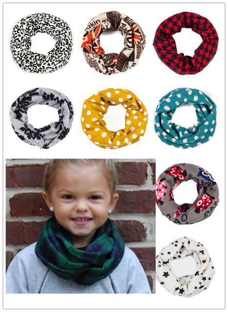 Однопетлевую кашемир ребенка шарф шарфы цветочные леопардовые девушки бесконечности ...