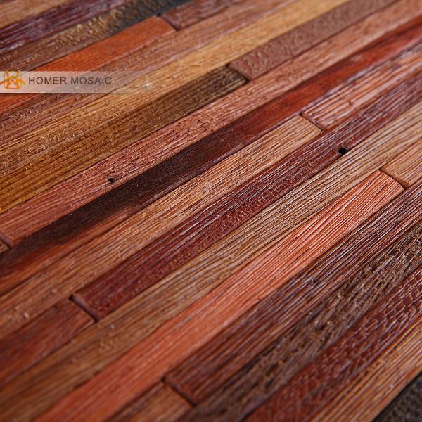 11 square feet/ lot,   3D wood mosaic  tile,  bathroom tile, natural texture, HME4030<br><br>Aliexpress
