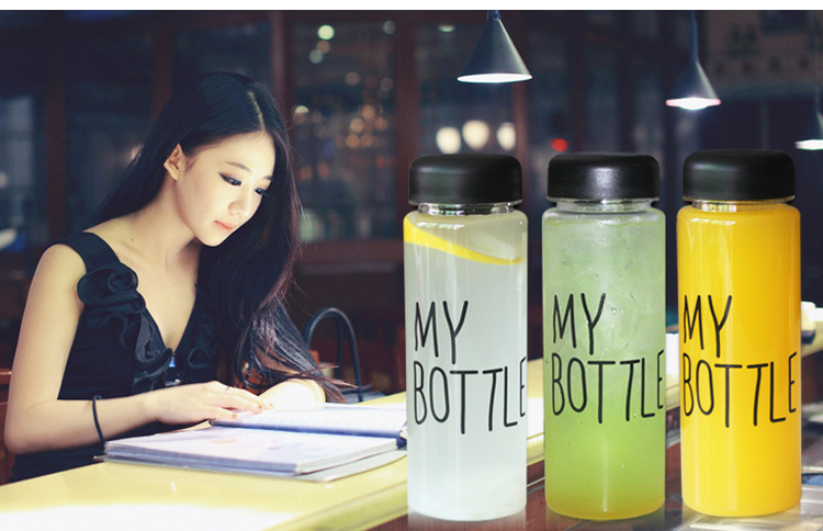 Free Shipping 500Ml Plastic Fational Sport My Fruit Bottle Lemon Juice Readily Cup Drinking Water(China (Mainland))