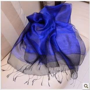 Весна 2016 новых женских национальных ветер хит цветные шелковые шарфы твердых двойной высокий - класс шелковый шарф FZ59