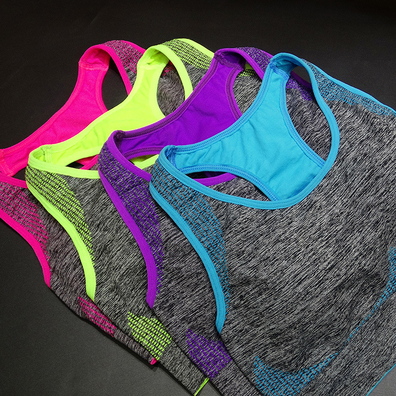 Women Yoga Bra Shock Absorption Professional Sports Yoga Bras Top Vest Sport Fitness Yoga Seamless Running Vest(China (Mainland))