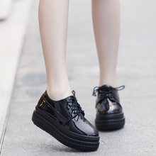 Fashion 2016 Spring Oxfords Shoes For Women Platform Creepers Slip On Pu Women's Oxfords Shoes White Casual Ladies Flats Shoes
