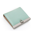 Imported Leather Solid Color Thin Wallet Women High Quality Genuine Leather Designer Small Money Clip Top