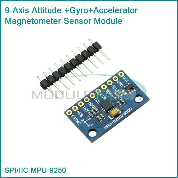 Гаджет  SPI/IIC  MPU-9250 9-Axis Attitude +Gyro+Accelerator+Magnetometer Sensor Module None Электронные компоненты и материалы