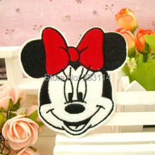 Children's cartoon fashion baby cloth paste patch embroidered back Minnie scrapbooking iron on patches sewing applique buttons(China (Mainland))