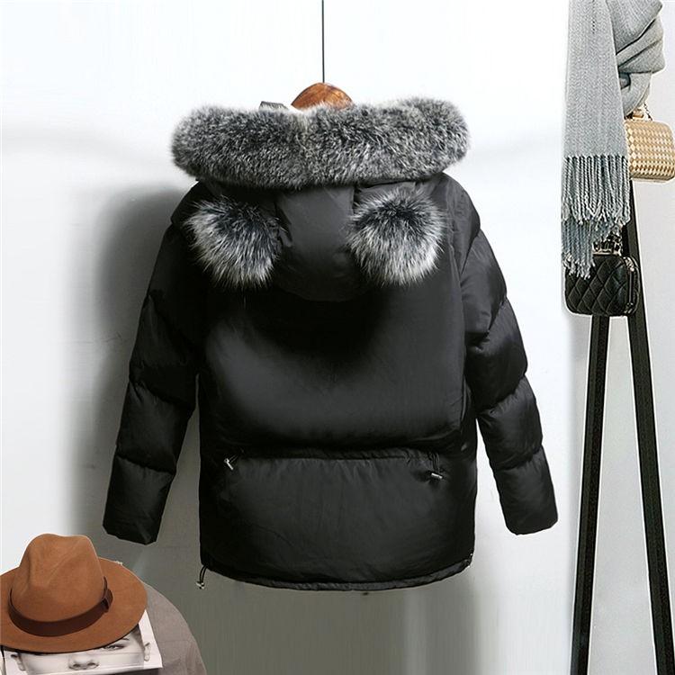 2016 Winter Women Padded Cotton Jacket Female Short Paragraph Korean Lovely Lady Lolita Slim Hooded Winter Thick Down Coat HM074