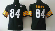 All stitched Youth Pittsburgh Steelers Kids children,32 Franco Harris 83 Heath Miller 84 Antonio Browncamouflage(China (Mainland))