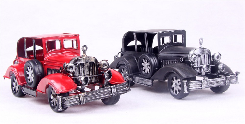 2016 new year business gift full classic early vintage car collection,metal iron shabby chic vintage home decoration craft decor