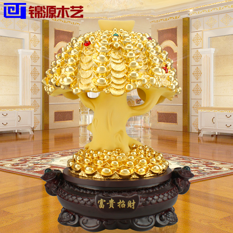 Jinyuan wooden wooden crafts and lucky tree ornaments shop decoration office Home Furnishing resin decoration(China (Mainland))