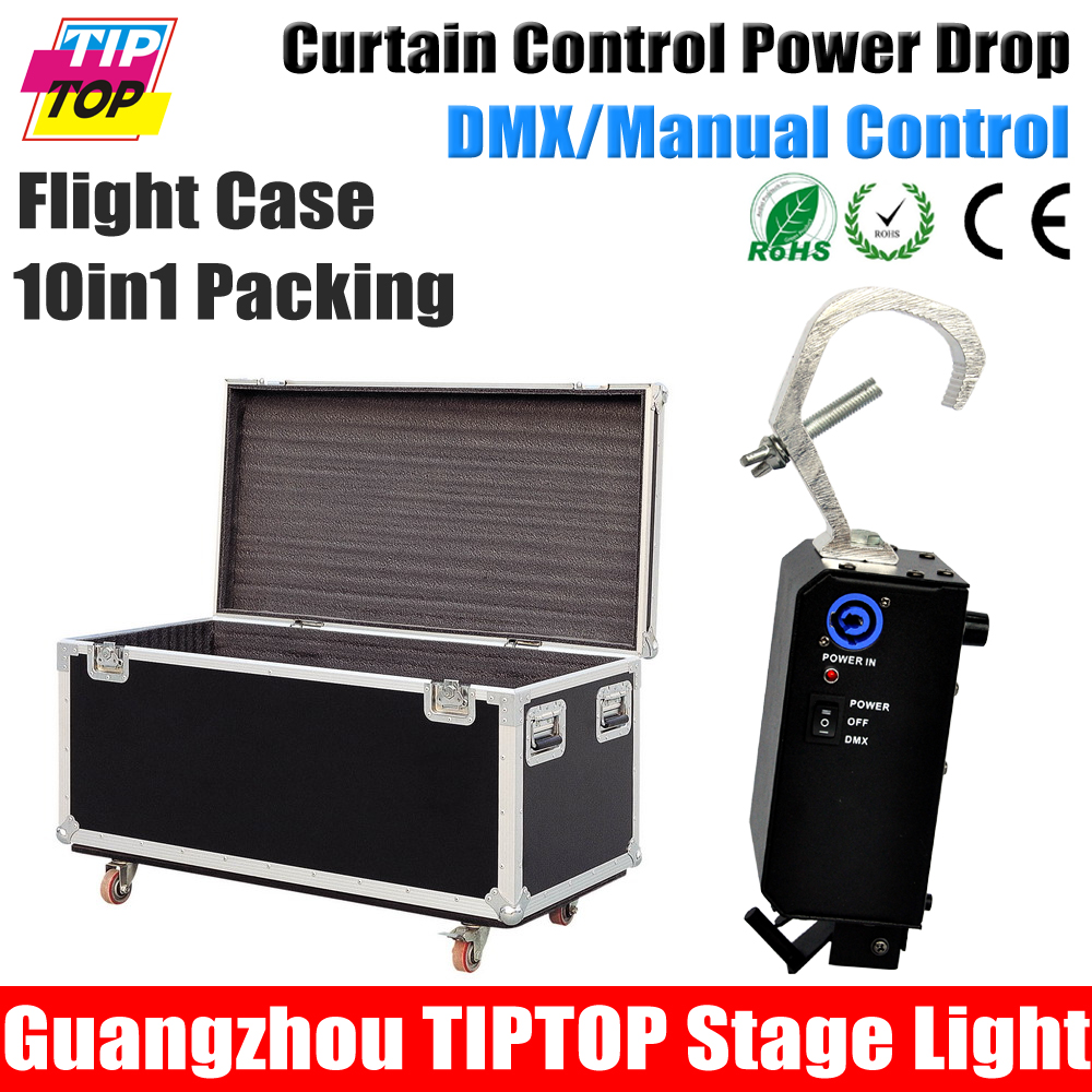 TIPTOP Flightcase 10in1 Packing DMX/Manual Curtain Drop 100W Release Curtain Power Drop Power in/out Con Electromagnetic Lock<br><br>Aliexpress