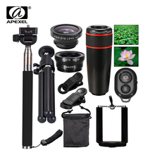 Buy 10 in1 Phone Camera Lens 12x Lenses Fish Eye Fisheye Lentes Wide Macro Lenses Selfie Stick Monopod Tripod Xiaomi iPhone Lens for $17.99 in AliExpress store
