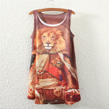 2016 summer new style female sleeveless woemn t-shirt Lions general logo lady Loose Short sleeve Tops t shirt women clothing