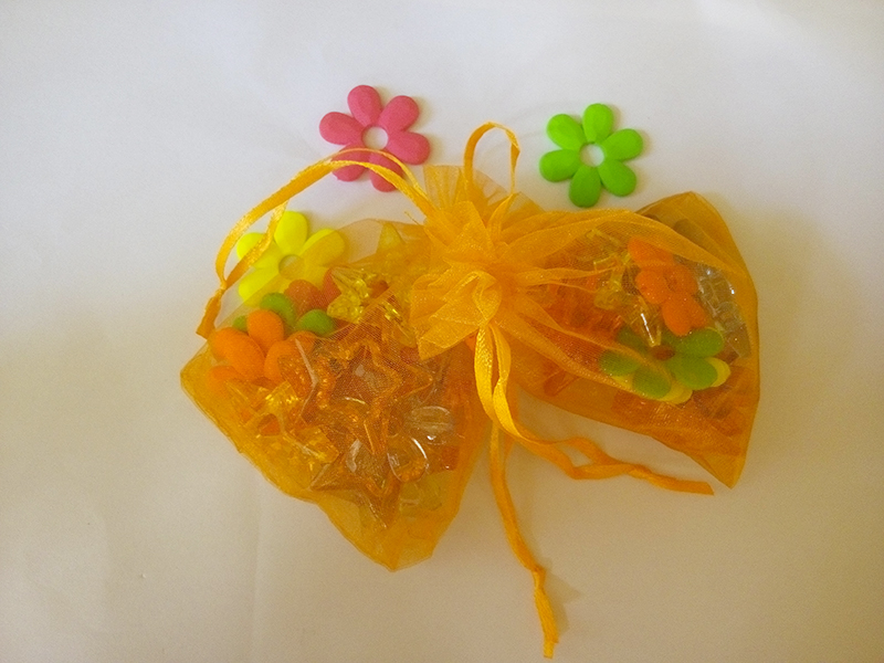 50pcs 20*30cm Orange Organza gift bag jewelry packaging display bags Drawstring pouch for bracelets/necklace mini Yarn bag(China (Mainland))
